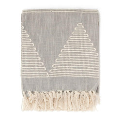 Paris Laundry Home Textured Woven Cotton Throw