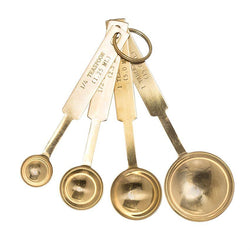 Paris Laundry Kitchen Stainless Steel Measuring Spoons in Gold