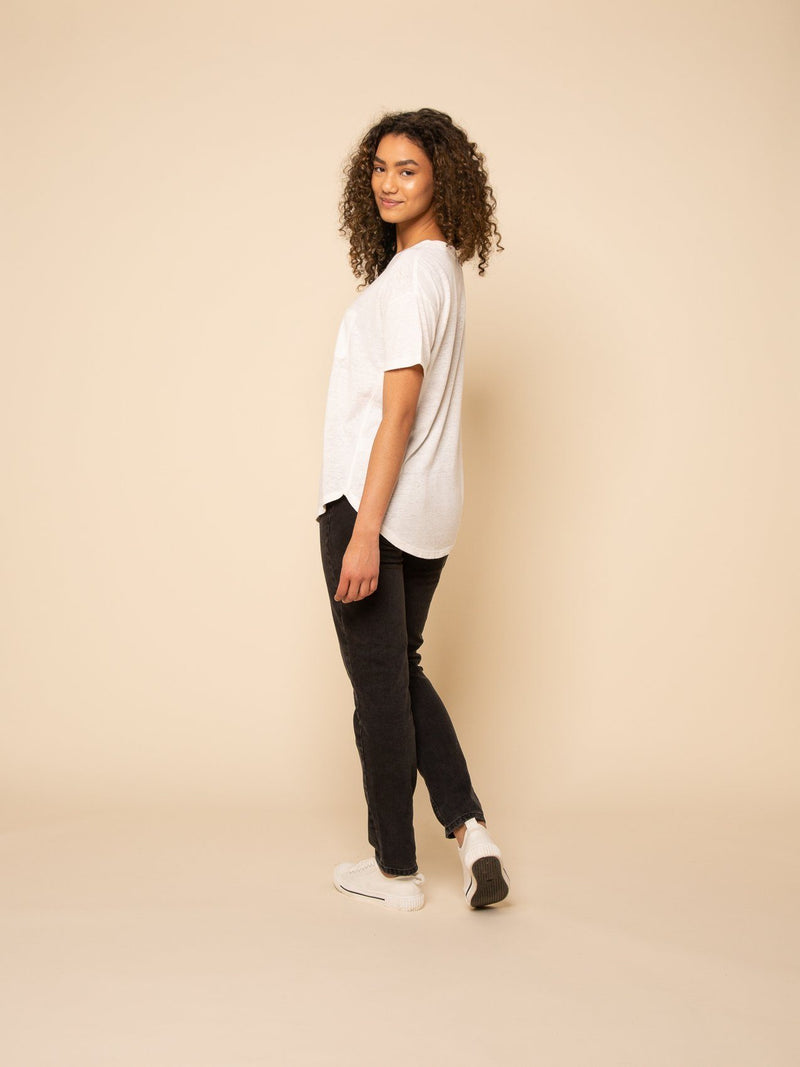 Paris Laundry Loungewear DENISON TEE in Bone