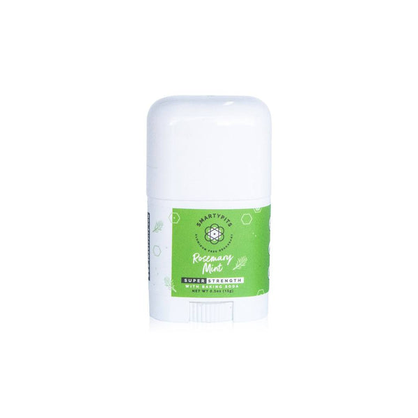 SmartyPits Deodorants Mini Rosemary Mint Super-Strength Formula (with baking soda)
