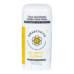 SmartyPits Deodorants Sensitive Skin Formula- Lemongrass Patchouli
