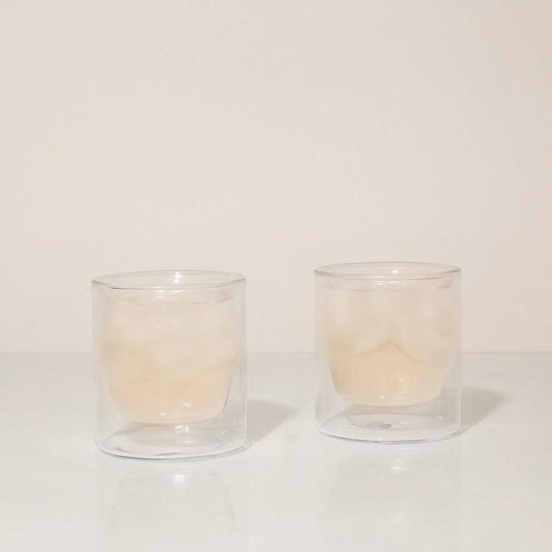 Yield Design Home Double-Wall 6oz Glasses - Set of Two