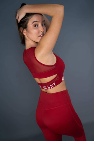 Sports BH - Crimson Rød - Sports bra