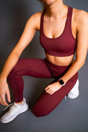 Sports BH - Garnet Rød - Sports bra