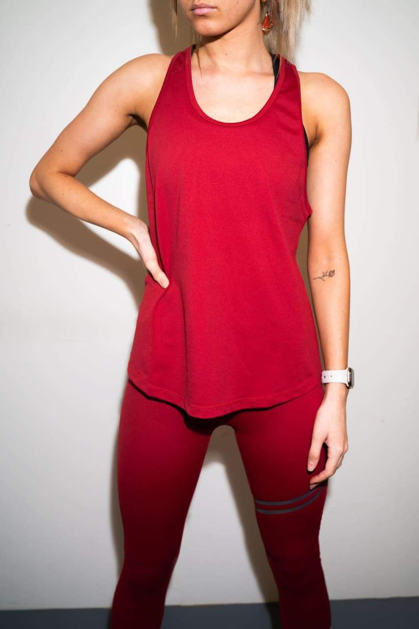 Tank Top - Crimson Rød - Loose Tank Top