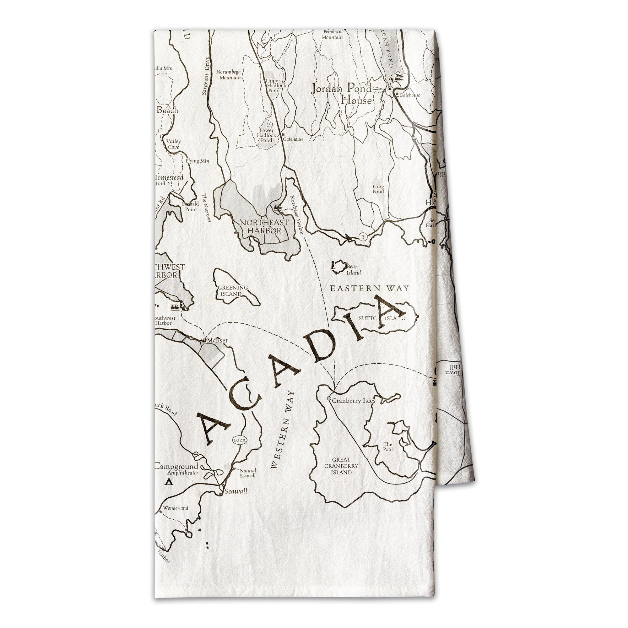 Acadia National Park Map Towel