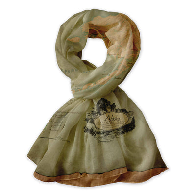 Alaska Map Scarf - McGovern & Company