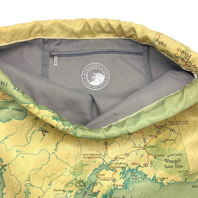 Alaska National Parks Map Daypack - McGovern & Company