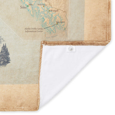 Alaska National Parks Map Plush Blanket - McGovern & Company