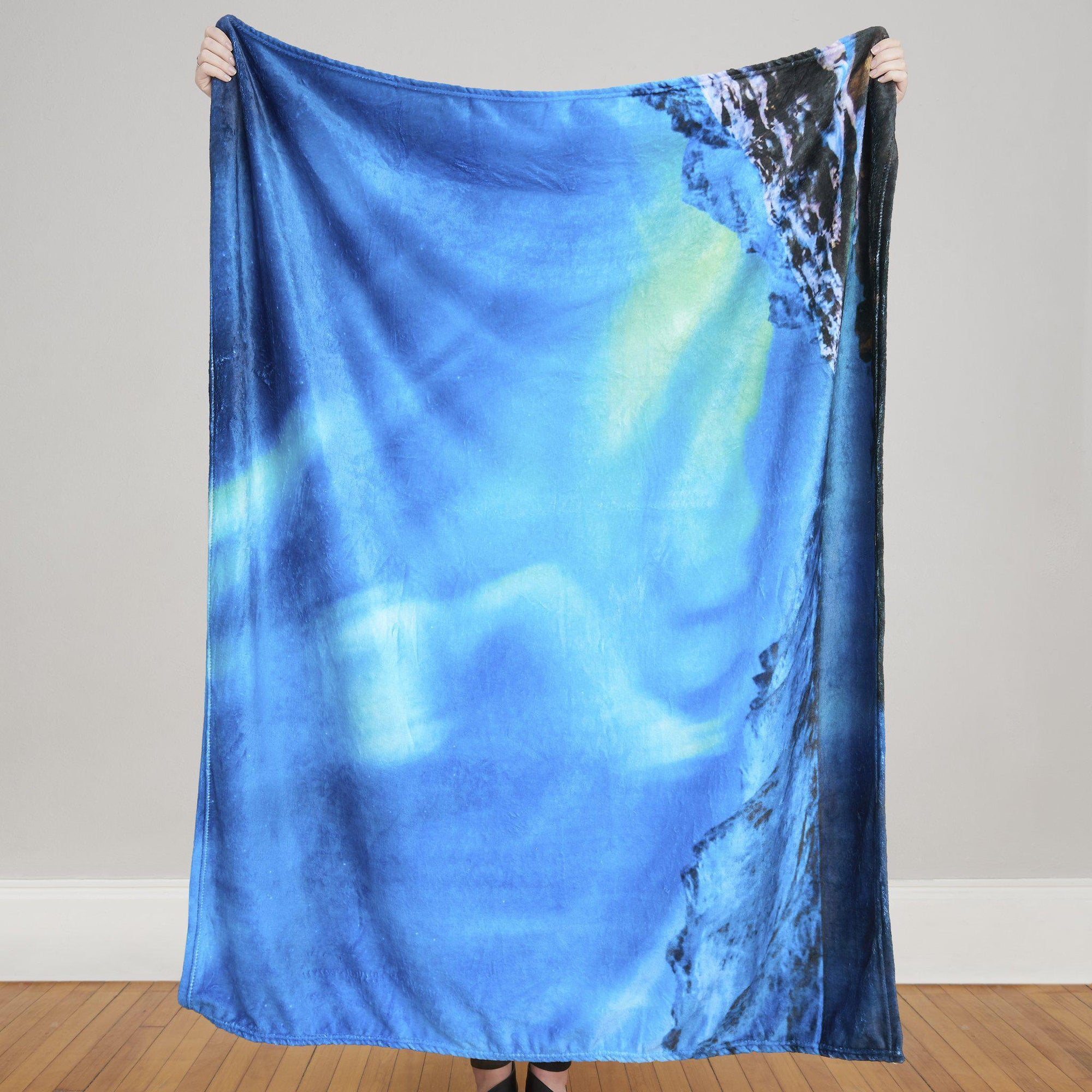 Aurora Borealis Photo Blanket