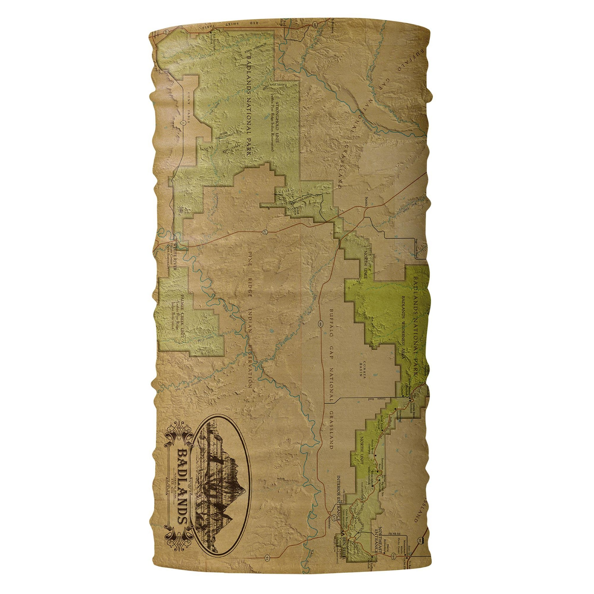 Badlands Vintage Map Bana - McGovern & Company