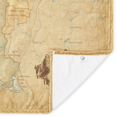 Black Hills National Forest Map Plush Blanket - McGovern & Company