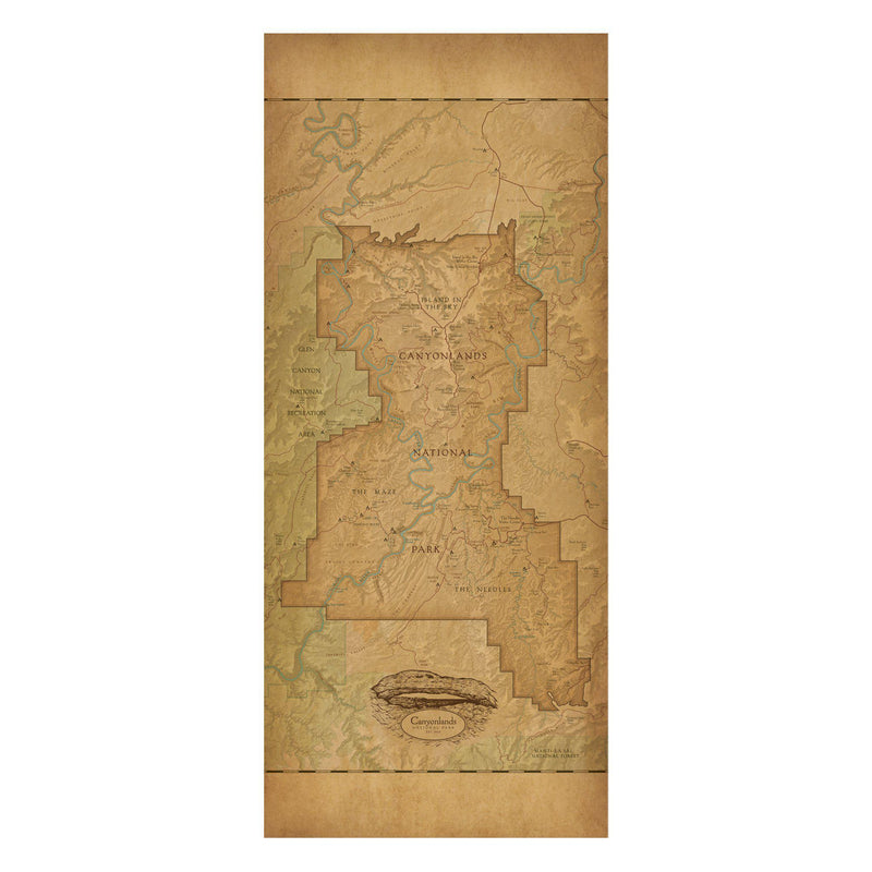 Canyonlands National Park Map Scarf - McGovern & Company