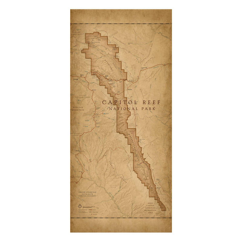 Capitol Reef National Park Map Scarf