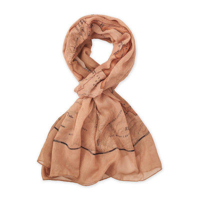 Capitol Reef National Park Map Scarf - McGovern & Company