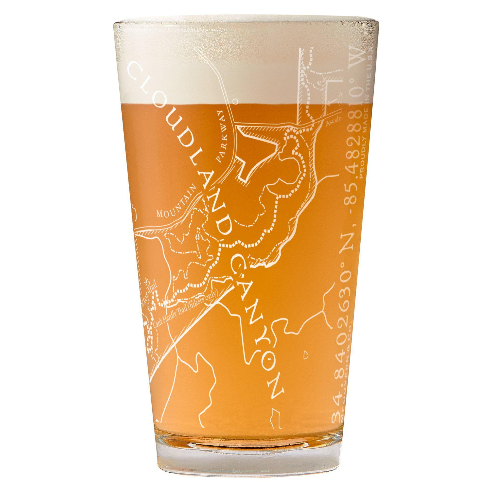 Cloudland Canyon State Park Map Pint