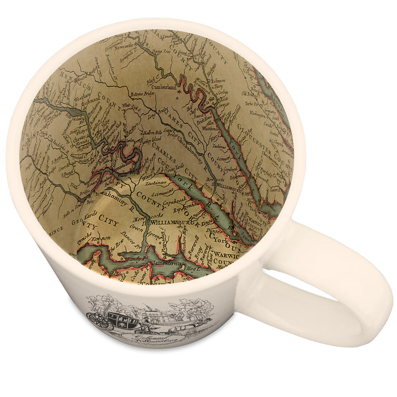 Colonial Williamsburg Map Mug - McGovern & Company