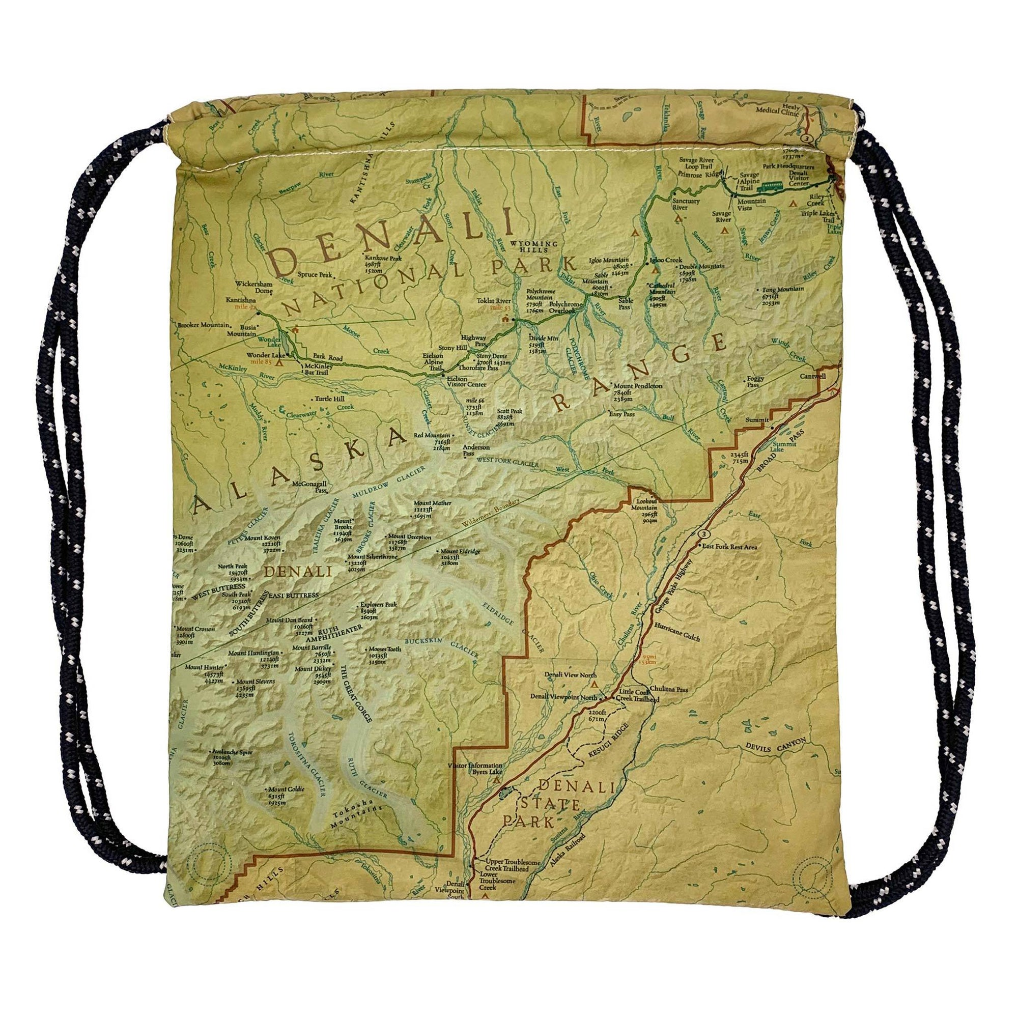 Denali National Park Map Daypack