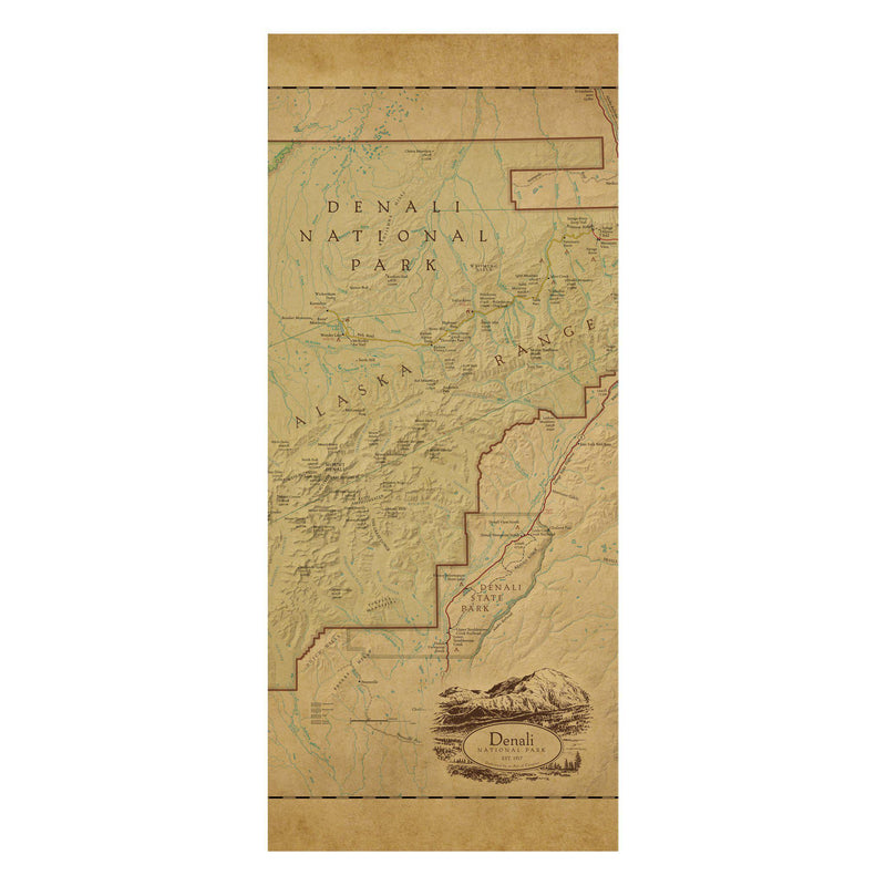 Denali National Park Map Scarf