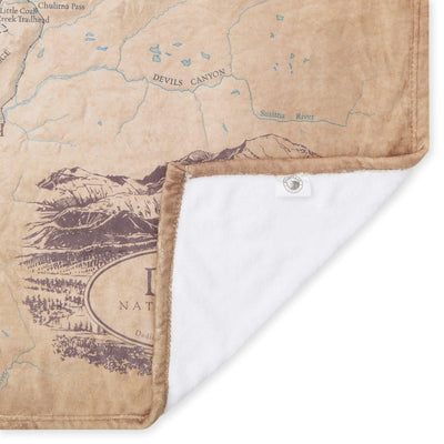 Denali National Park & Preserve Map Plush Blanket - McGovern & Company