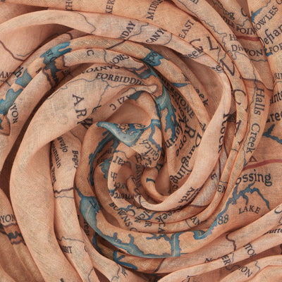 Glen Canyon Map Scarf - McGovern & Company
