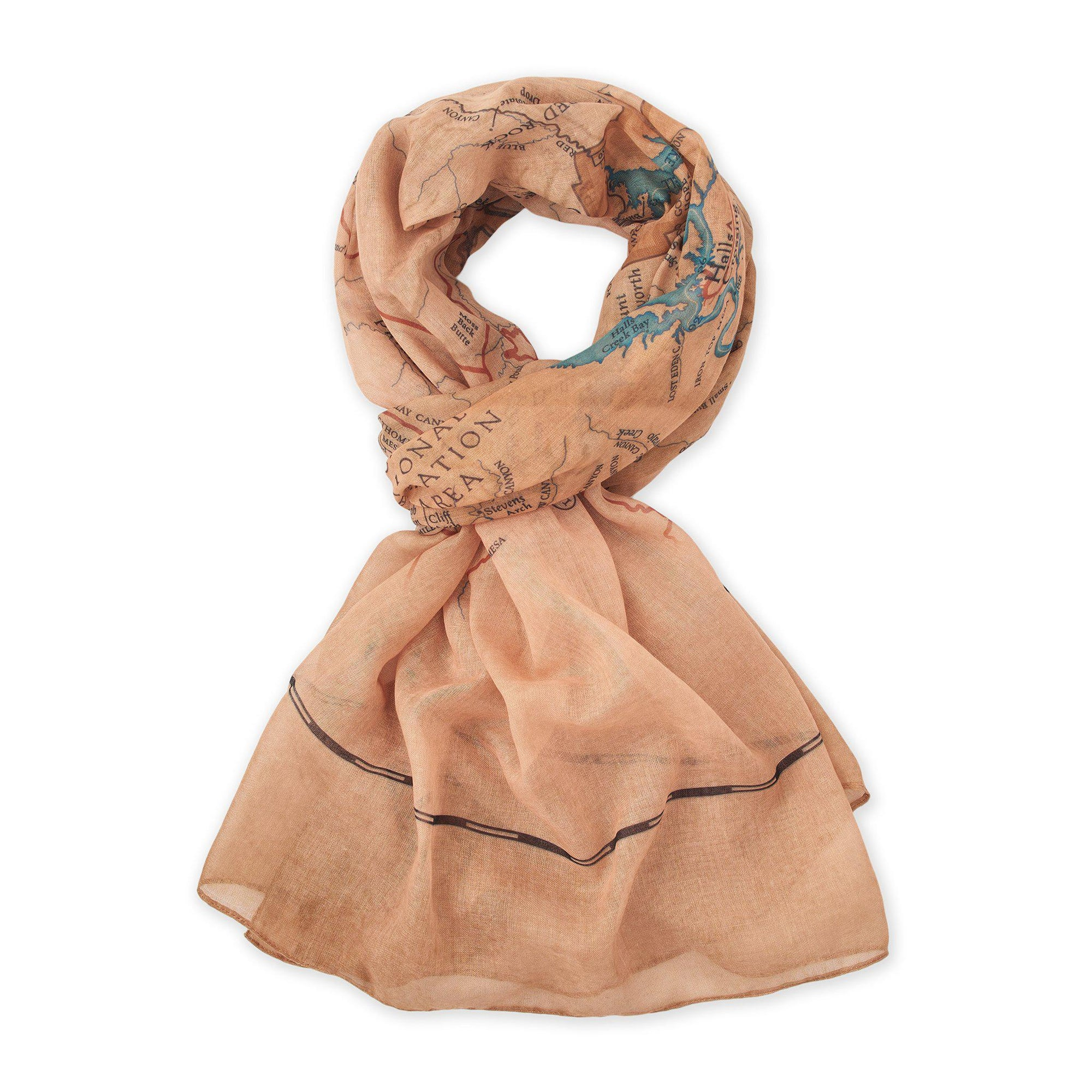 Glen Canyon Map Scarf