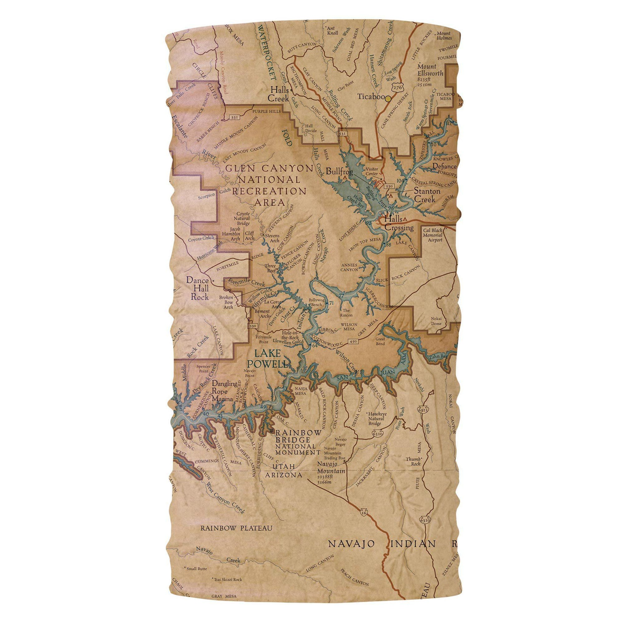 Glen Canyon National Recreation Area Vintage Map Bana