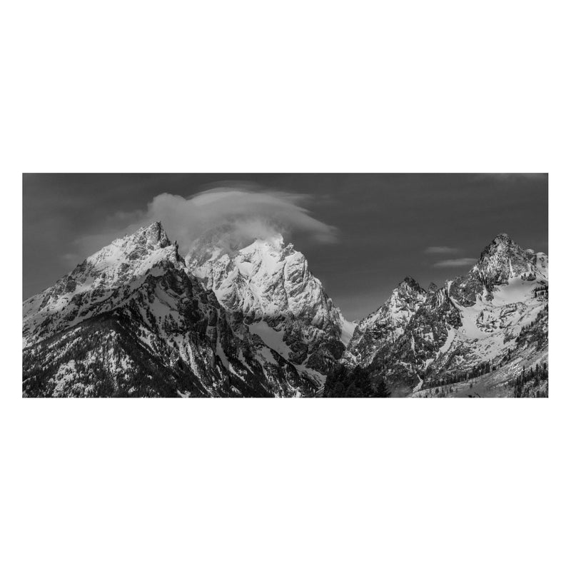 Grand Teton National Park Black and White Photo Scarf