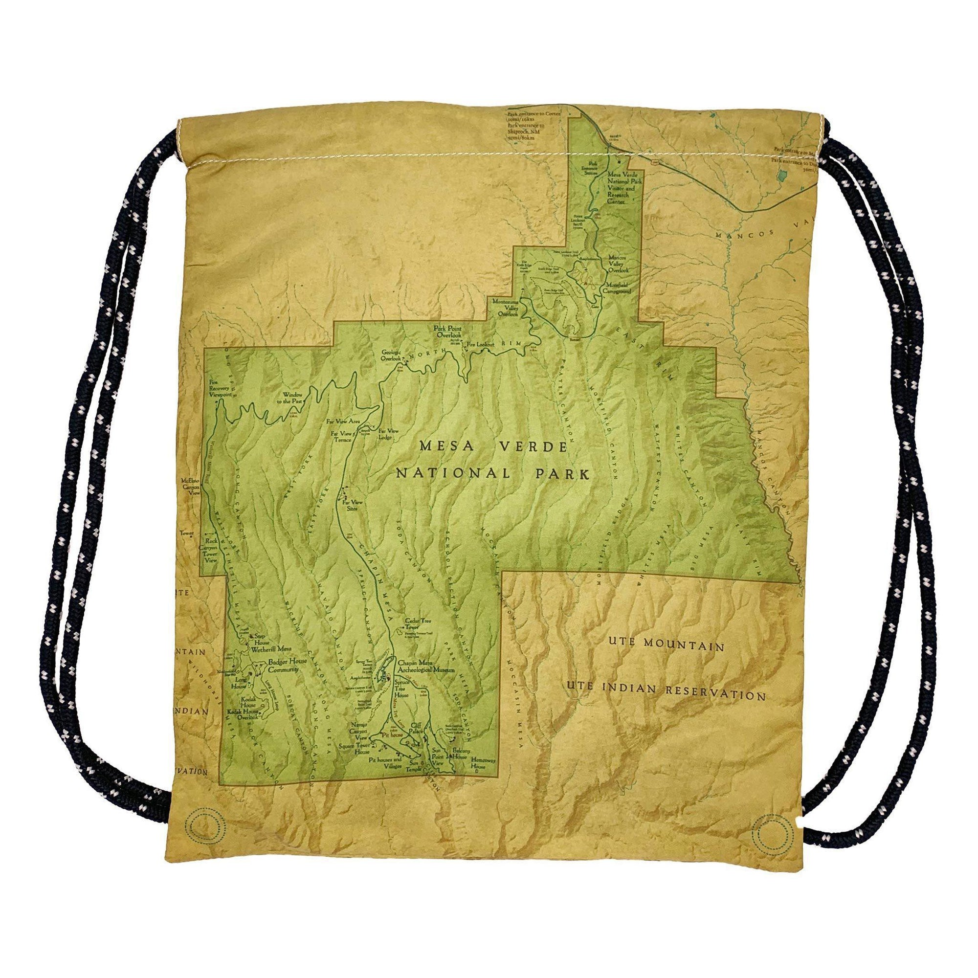 Mesa Verde National Park Map Daypack