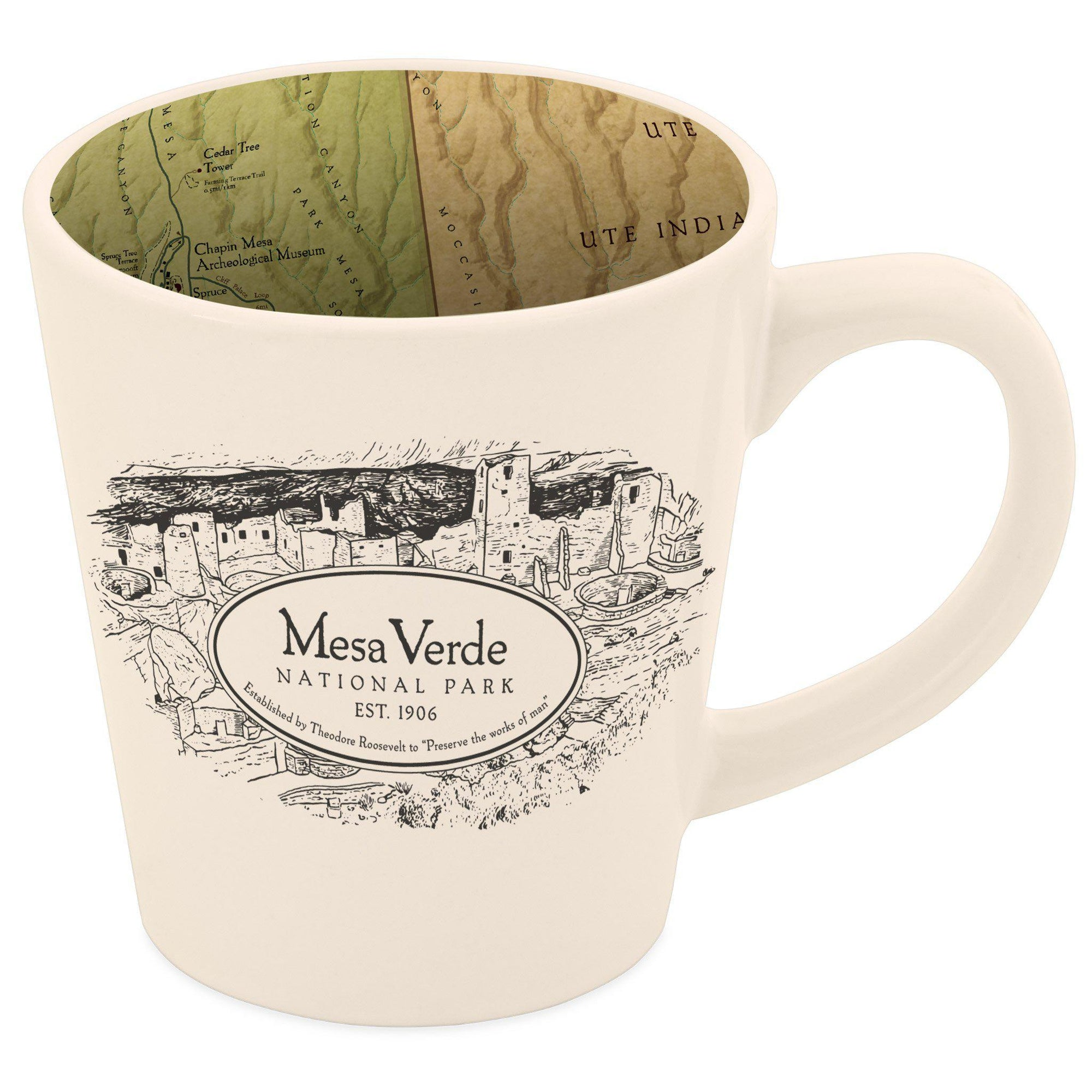 Mesa Verde National Park Map Mug