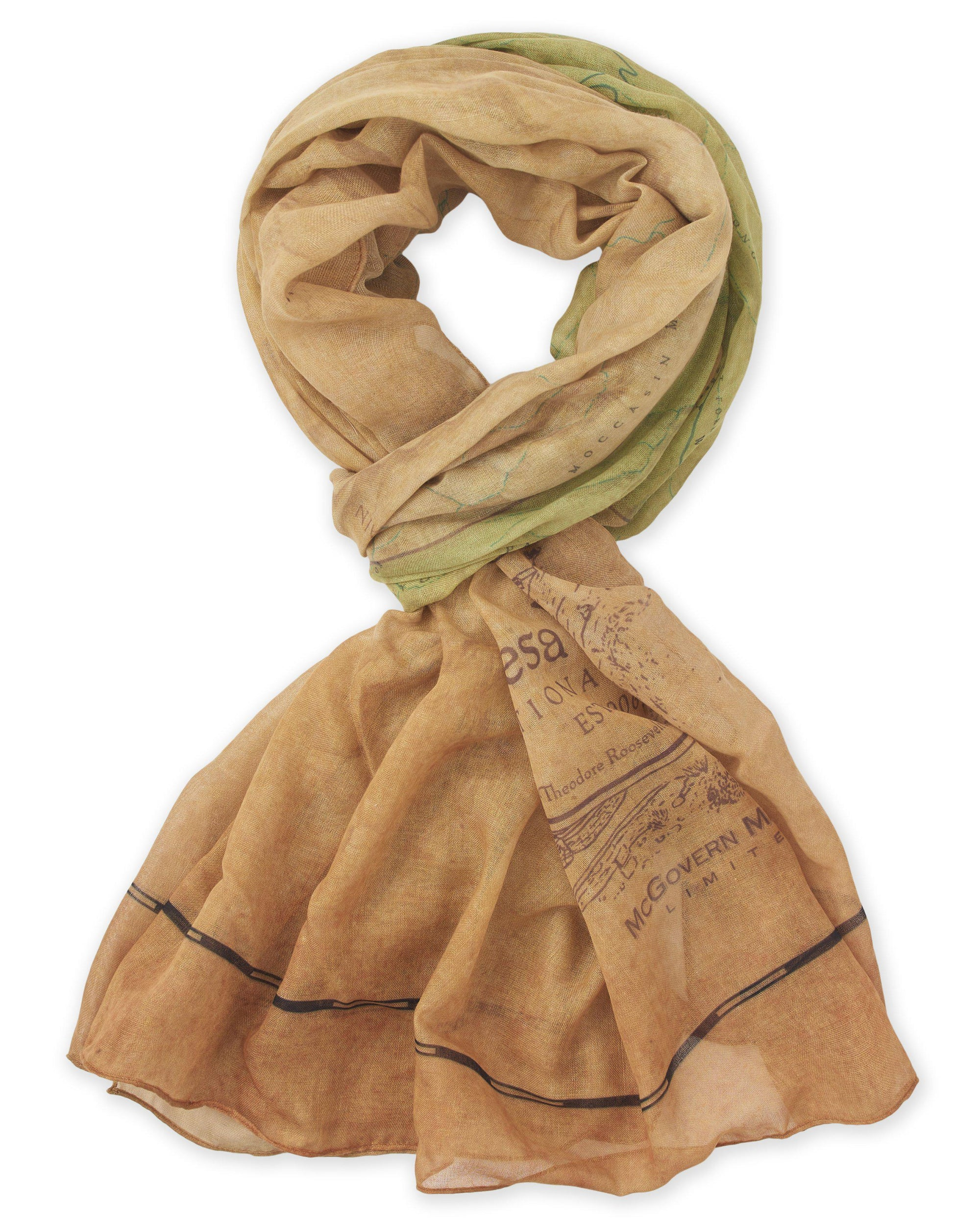 Mesa Verde National Park Map Scarf