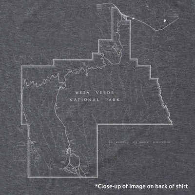 Mesa Verde National Park Map Unisex Tee