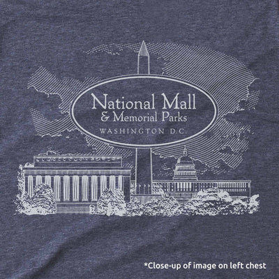 National Mall Map Unisex Tee