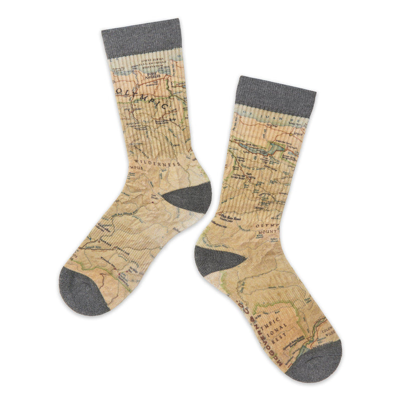 Olympic National Park Map Socks