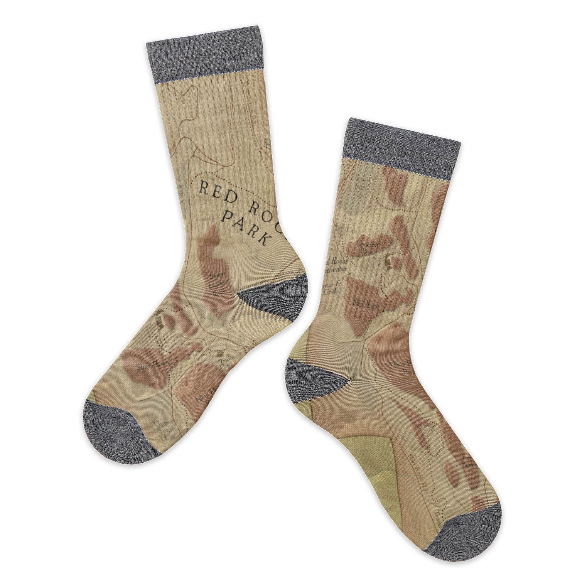 Red Rocks Park, Colorado Map Socks - McGovern & Company