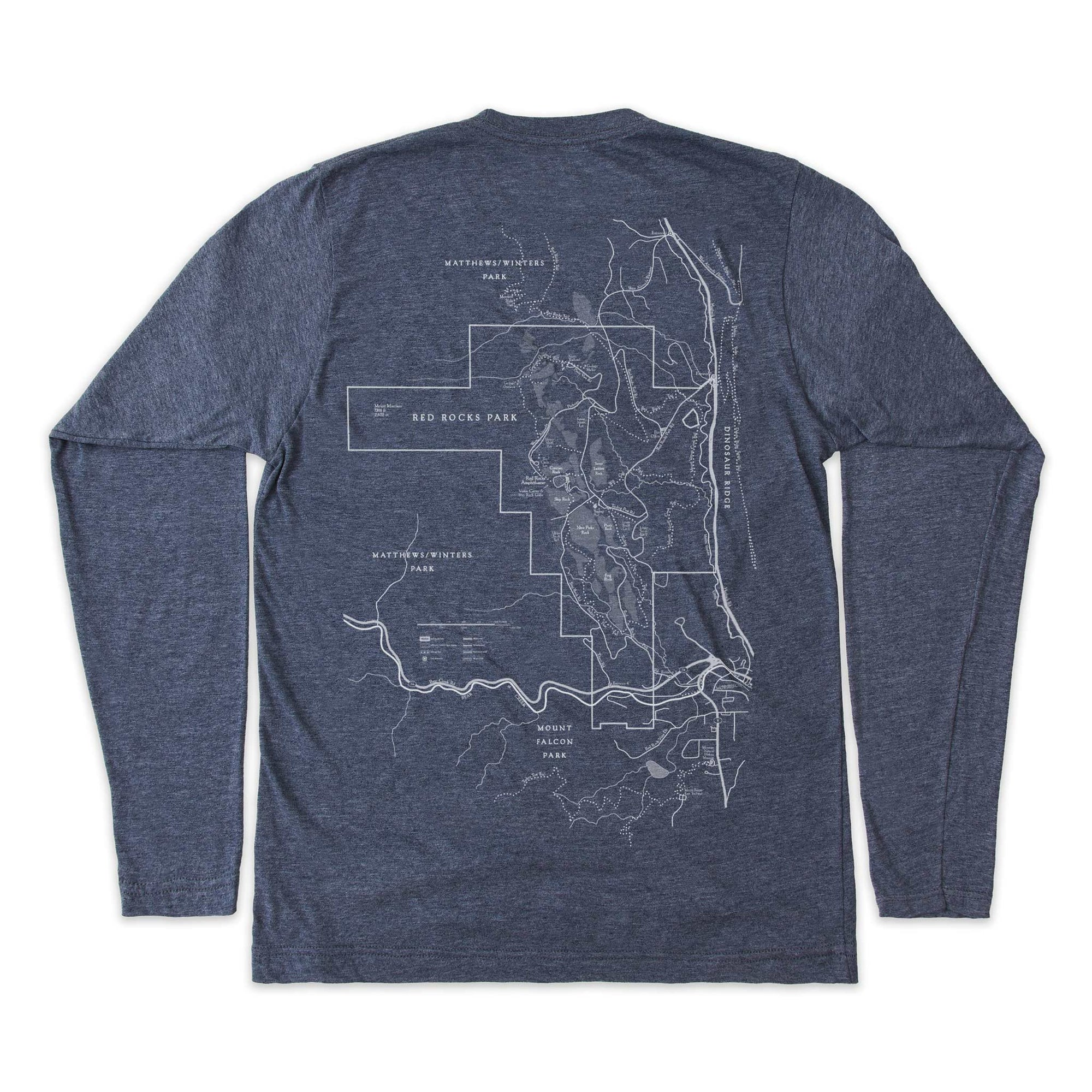 Red Rocks Park Map Unisex Tee