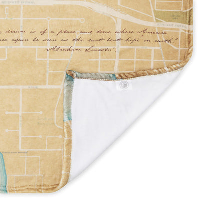 The National Mall Map - Plush Blanket - McGovern & Company