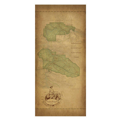 Theodore Roosevelt National Park Map Scarf - McGovern & Company