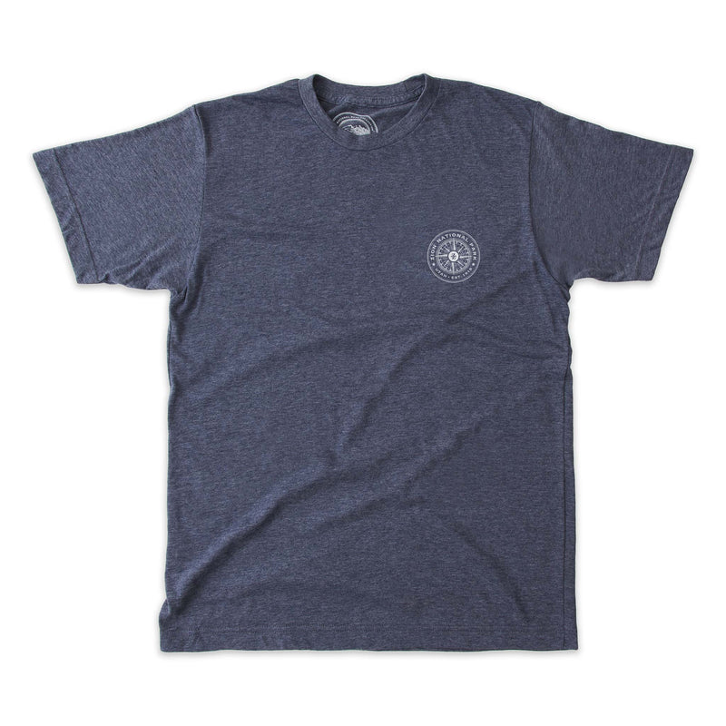 Zion National Park Map and Compass Short-Sleeve Unisex Tee