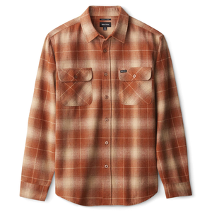 Brixton - Bowery L/S Flannel Shirt - Copper