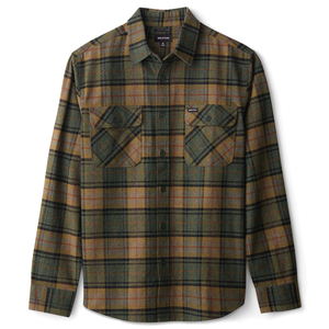 Brixton - Bowery L/S Flannel Shirt - Evergreen