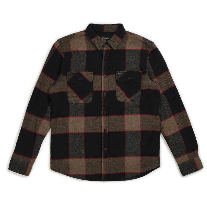 brixton-bowery-l-s-flannel-heather-grey-charcoal