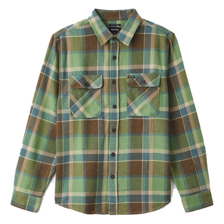 brixton-bowery-l-s-flannel-toffee