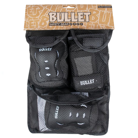 bullet-triple-pad-set-black-white-youth-3-6-years-extra-extra-small