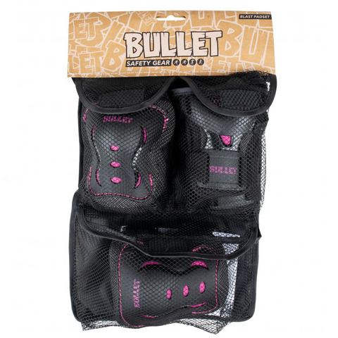 bullet-triple-pad-set-black-pink-youth-3-6-years-extra-extra-small