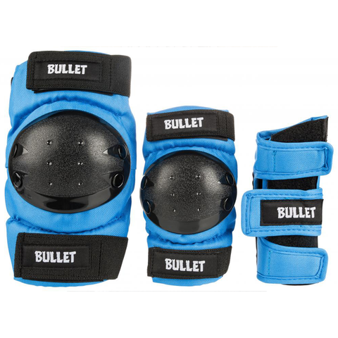 bullet-triple-pad-set-blue-black-junior-one-size-fits-all