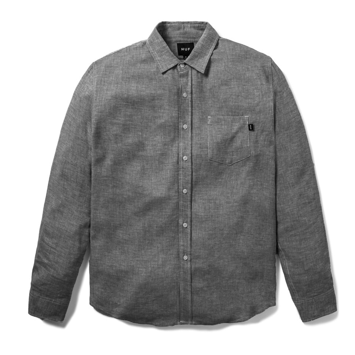 huf-course-l-/-s-chambray-shirt-black