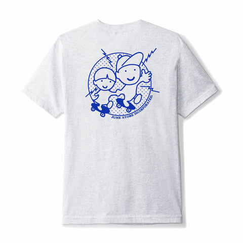 June - YO! Mens Tee - Heather Grey, Blue