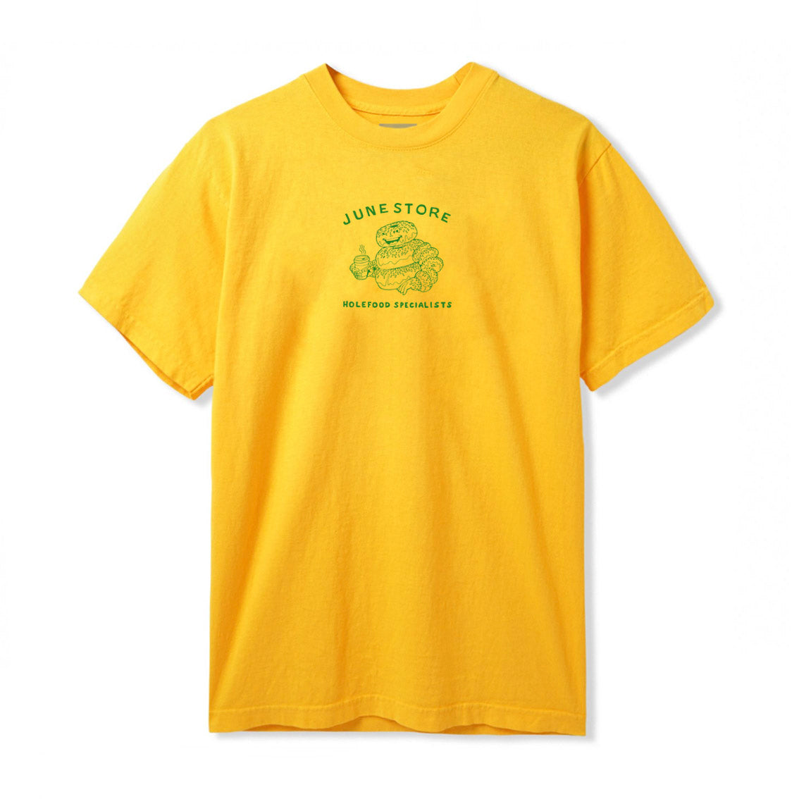 June-Hole-Food-Specialist-Mens-Tee-Yellow-Green-front