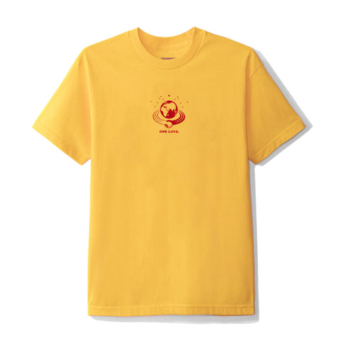 June - 'GLOBE' Mens Tee - Gold, Red